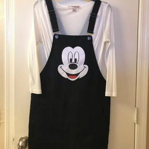 *DISNEY* Mickey Mouse Overalls Skirt